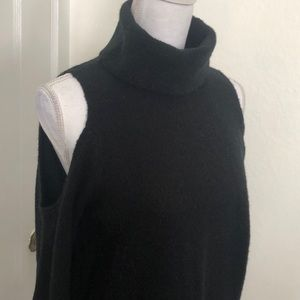 Sanctuary Cold Shoulder Turtle Neck Sweater